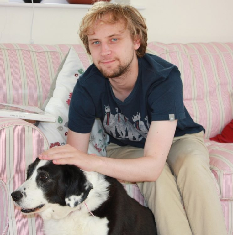 Maxwell Dean with his dog