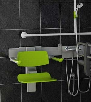Closomat green shower seat