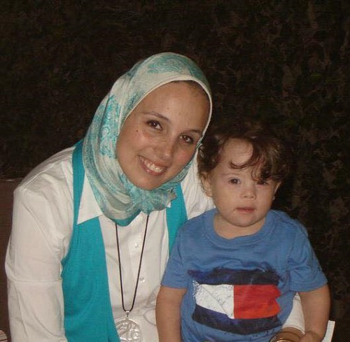 Tasneem as a child with his mother