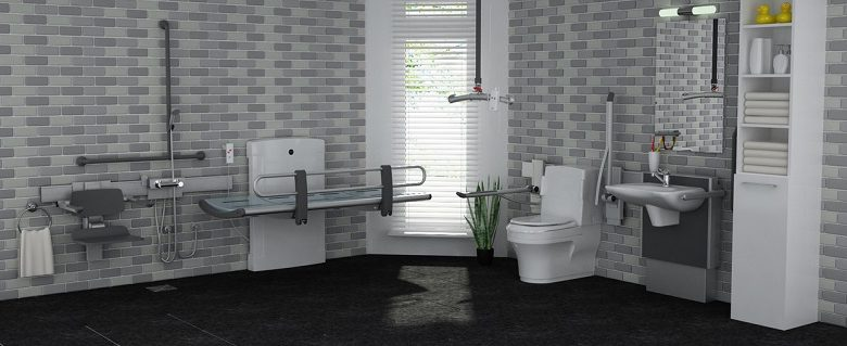 Closomat adapted bathroom