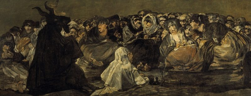 Francisco Goya painting Witches Sabbath The Great He Goat