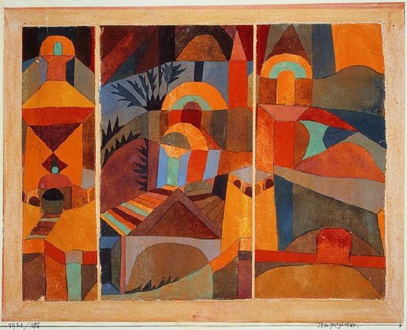 Paul Klee's painting Tempelgärten