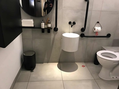Disabled toilet at Mere Restaurant