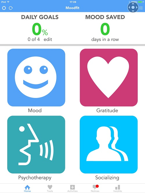 Accessible apps - Moodfit