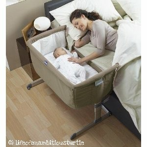 Attachable bedside co-sleeping cot for disabled mum