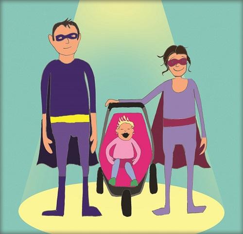 Steve, Eve and Jenni for Superhero Tri event
