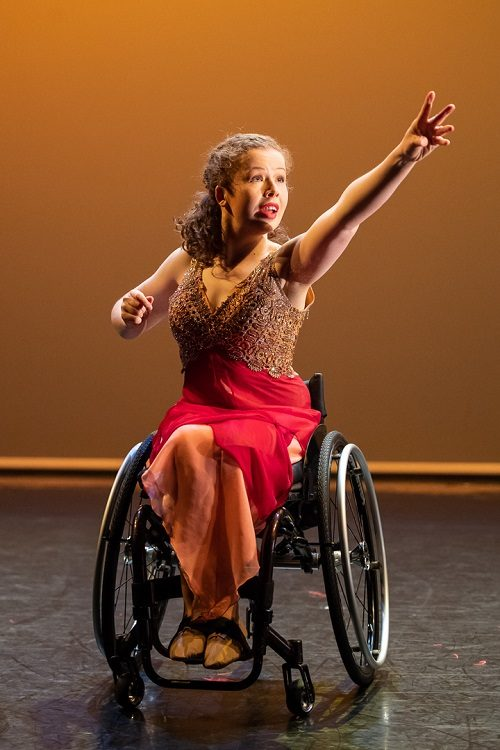 Wheelchair dancer dancing with Step Change Studios