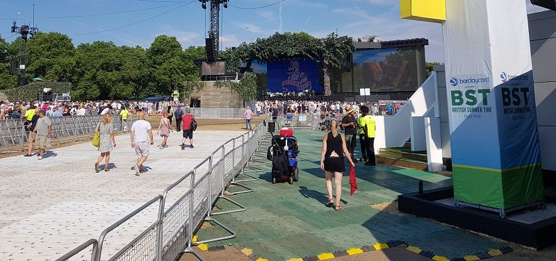 Summer Time Ball accessible path