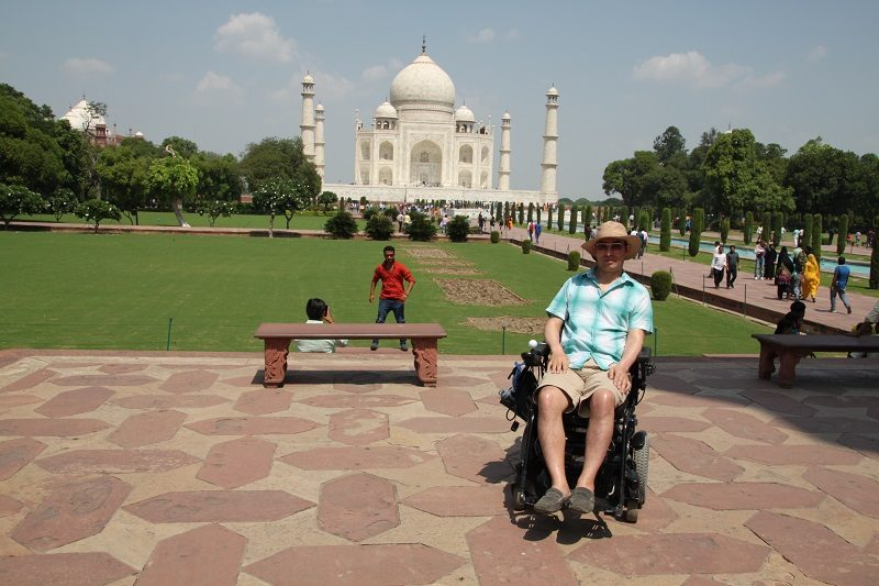 Wheelchair user Martin Heng in India