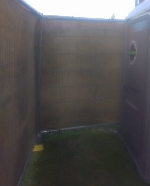 Inaccessible disabled toilet at Lost Village festival