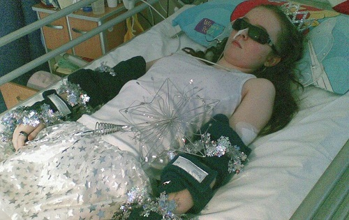 Jessica lying in hospital