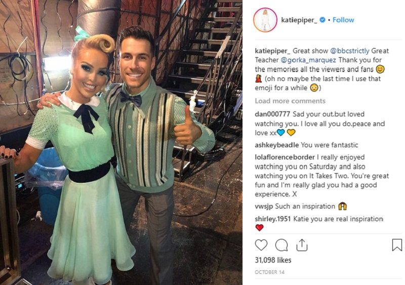 Katie Piper and Gorka Marquez Strictly Come Dancing