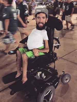 Wheelchair user Jimmy