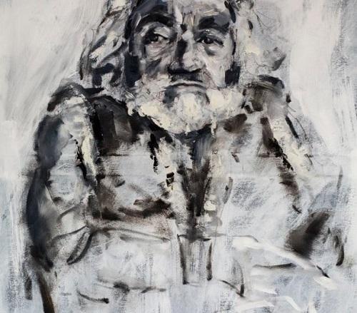 Portrait of Nabil Shaban by Eleanor Johnson