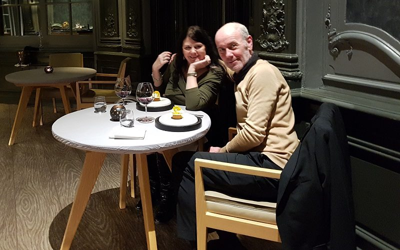 Helen Wheels with her husband