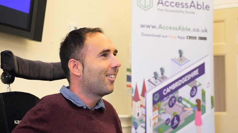 Martyn Sibley speaking at the AccessAble launch in Cambridge