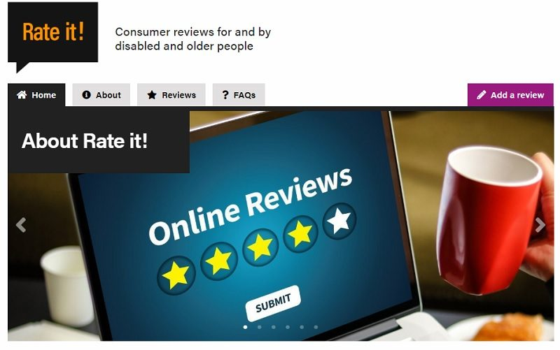 Reviews website Rate It! for disabled people