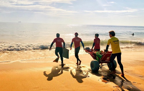 Accessible surf experience with Portugal 4All Senses