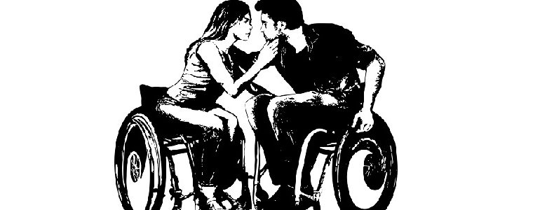 Drawing of man and woman in wheelchairs