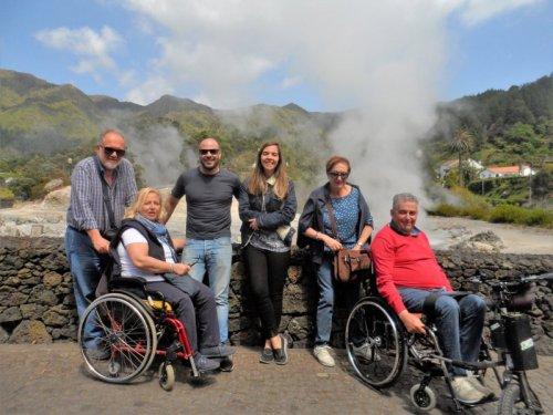 Group in Azores with two wheelchair users