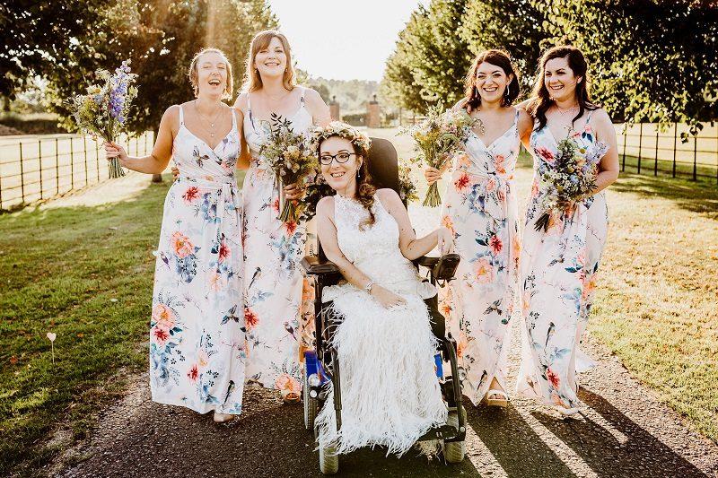 Tori with her bridesmaids