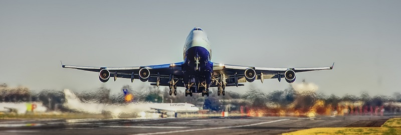 Aeroplane taking off