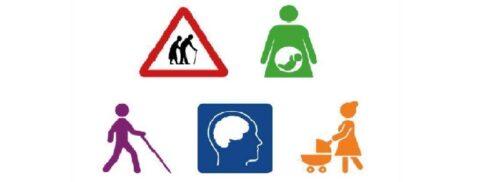 Disability symbols on Ability Access logo