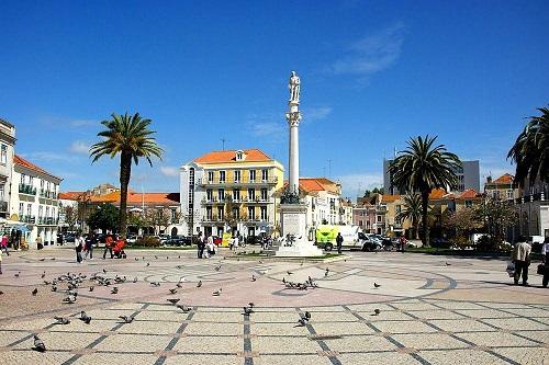 Setubal downtown Portugal