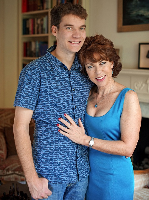 Jules Robertson with his mum Kathy Lette