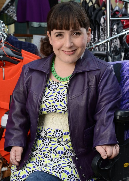 Disabled actress Lisa Hammond as Donna Yates in Eastenders