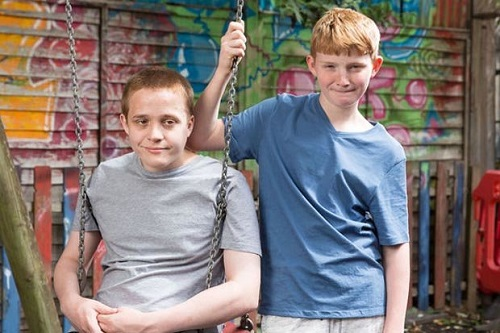 Alfie and Tom Jacobs as Riley and Chatham Taylor on EastEnders