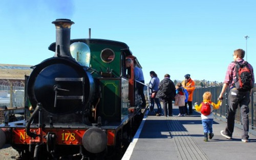 Steam train at National Railway museum