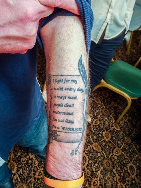 Martin Warrillow's tattoo
