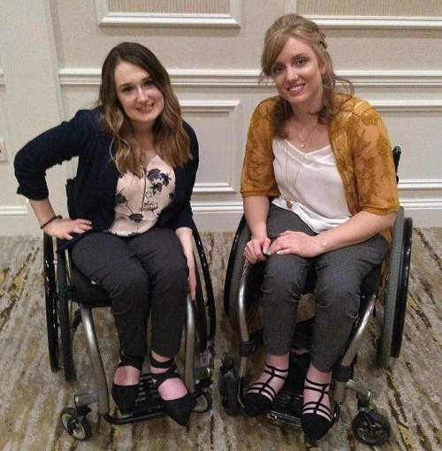 Shannon with Hayley, another wheelchair model