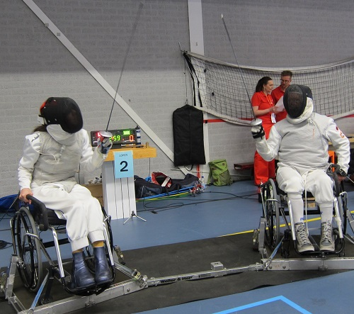 Karen wheelchair fencing