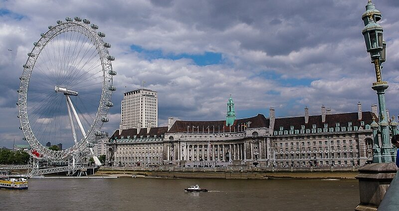 London Eye on the South Bank