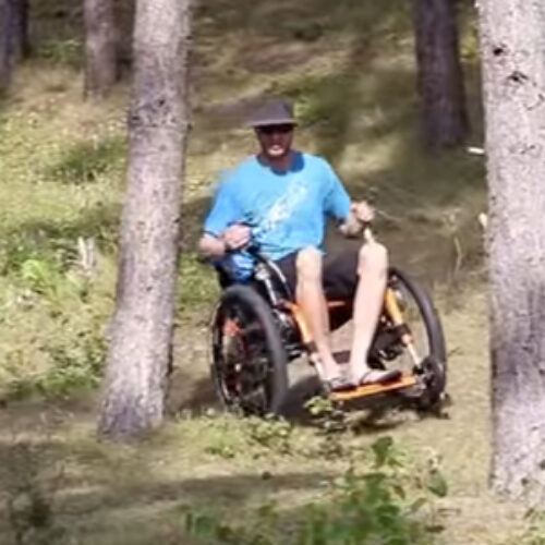 VIDEO: Mountain Trike all-terrain wheelchair designed for the beach