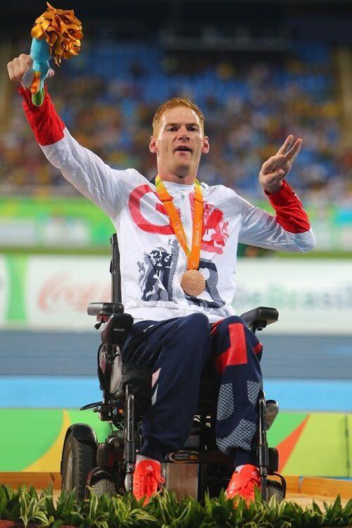 Paralympian Stephen Miller winning at 2012 Paralympics