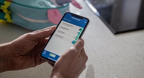 Pharmacy2U app on a mobile phone being used