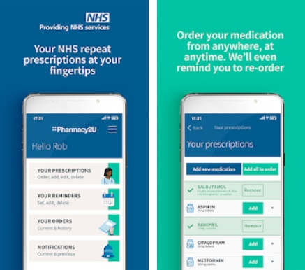 Pharmacy2U app screenshot