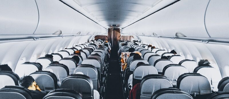 Airline seats on an aeroplane