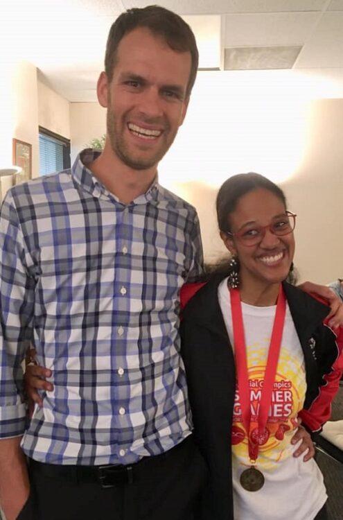 Amanda with life coach Jeremy