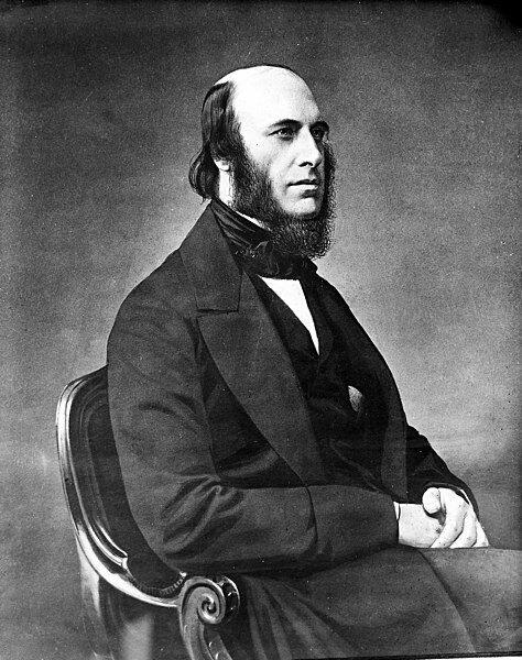 Portrait of William John Little in black and white