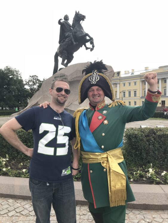 Kenneth in Russia