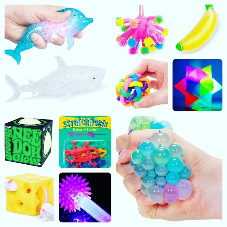 A collection of sensory toys for children and adults with autism and ADHD