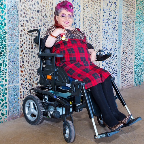 Wheelchair user Penny Penner who calls herself The Naked Punk