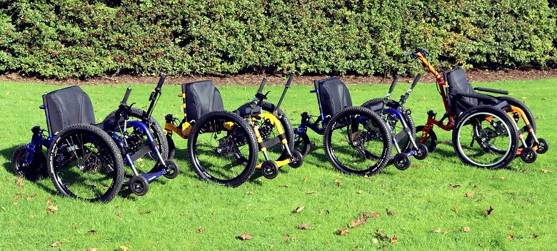Mountain Trike's four all-terrain wheelchairs