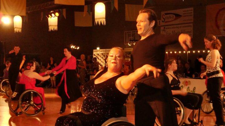 Strictly Wheels Paula and Gary dancing