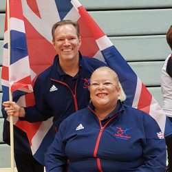 Strictly Wheels Paula and Gary in Team GB tracksuit