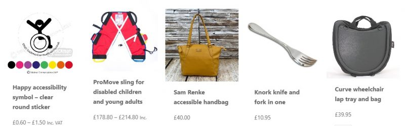 Disability Horizons shop products